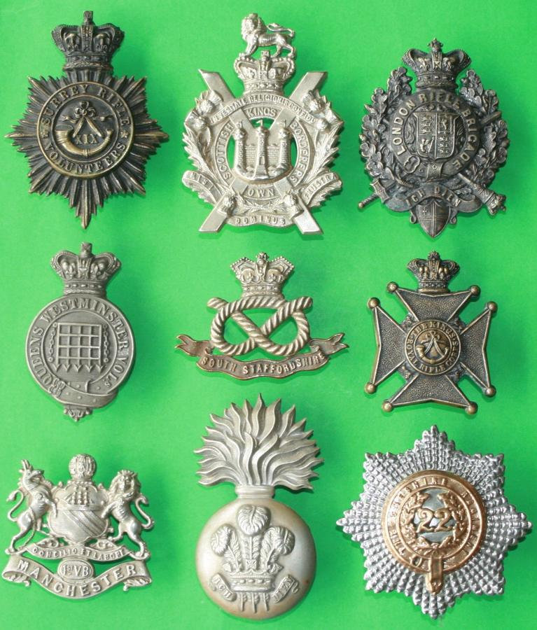 PRE 1902 CAP BADGES & GLENGARRY BADGES