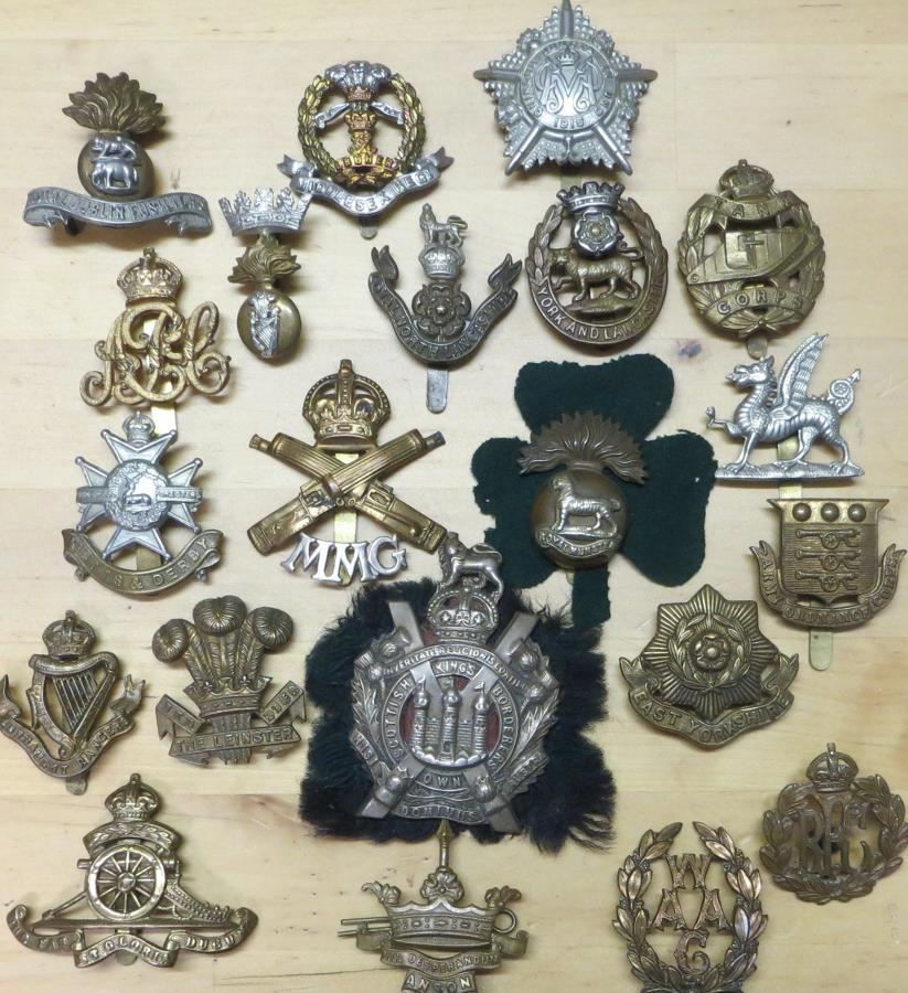 WWI CAP BADGES
