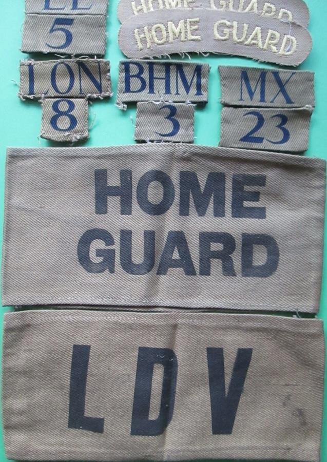 HOME GUARD BADGES