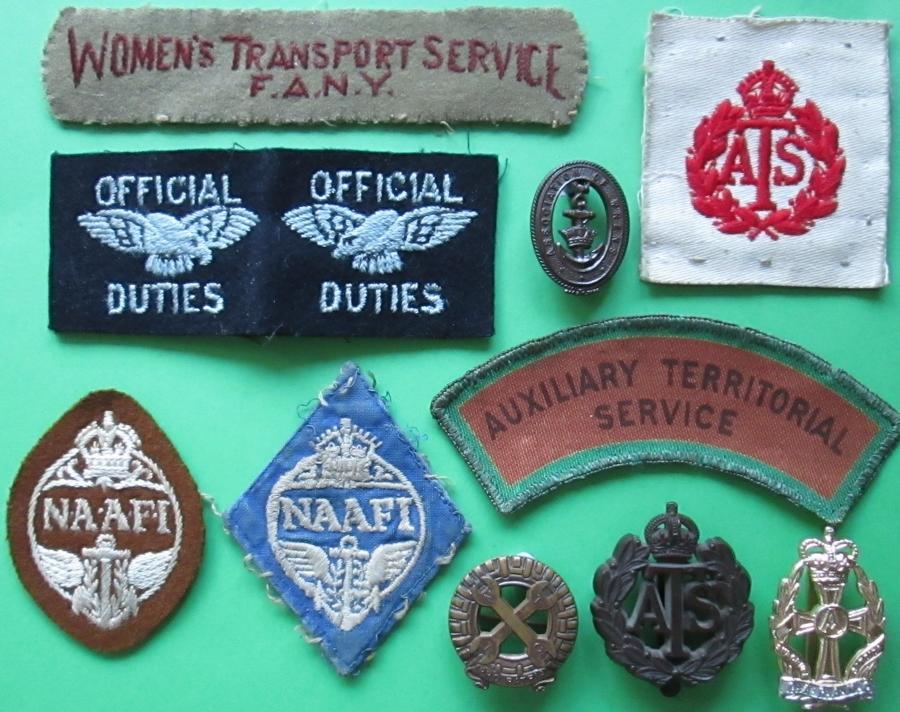 WOMAN'S FORCES BADGES