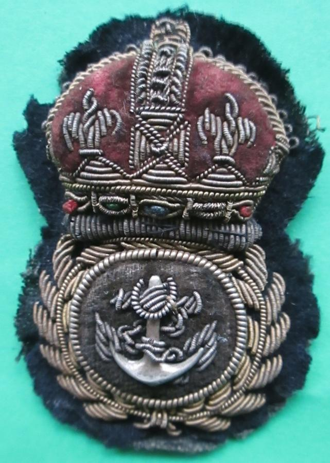 A PRE 1952 CHIEF PETTY OFFICERS BULLION CAP BADGE