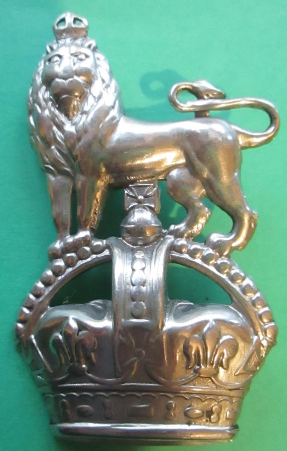 A 15th HUSSARS KINGS CROWN ARM BADGE