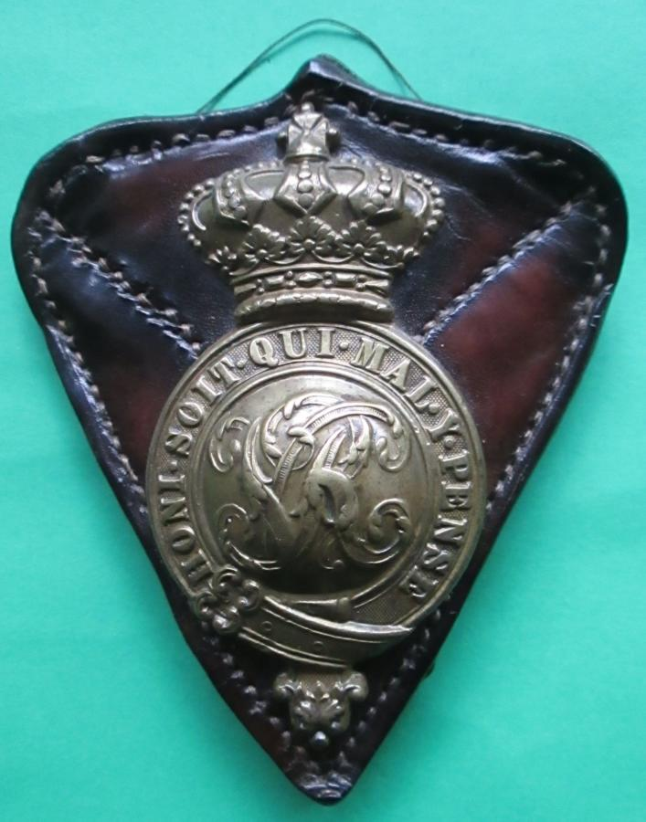 A VICTORIAN HORSE BREAST PLATE BADGE