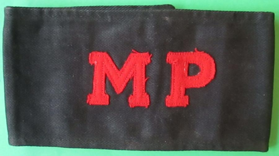 A WWII MILITARY POLICE ARM BAND
