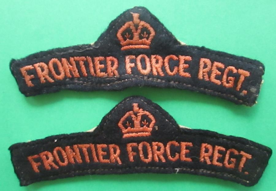 FRONTIER FORCE REGT SHOULDER TITLES