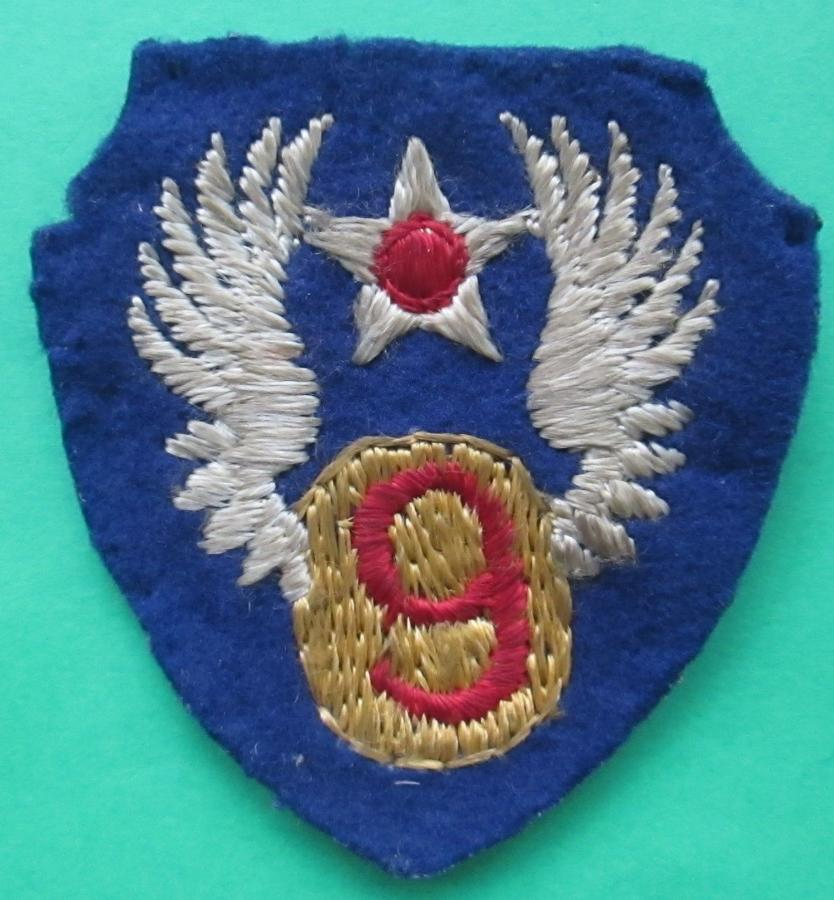 A WWII US 9th ARMY AIR FORCE SHOULDER PATCH BRITISH MADE