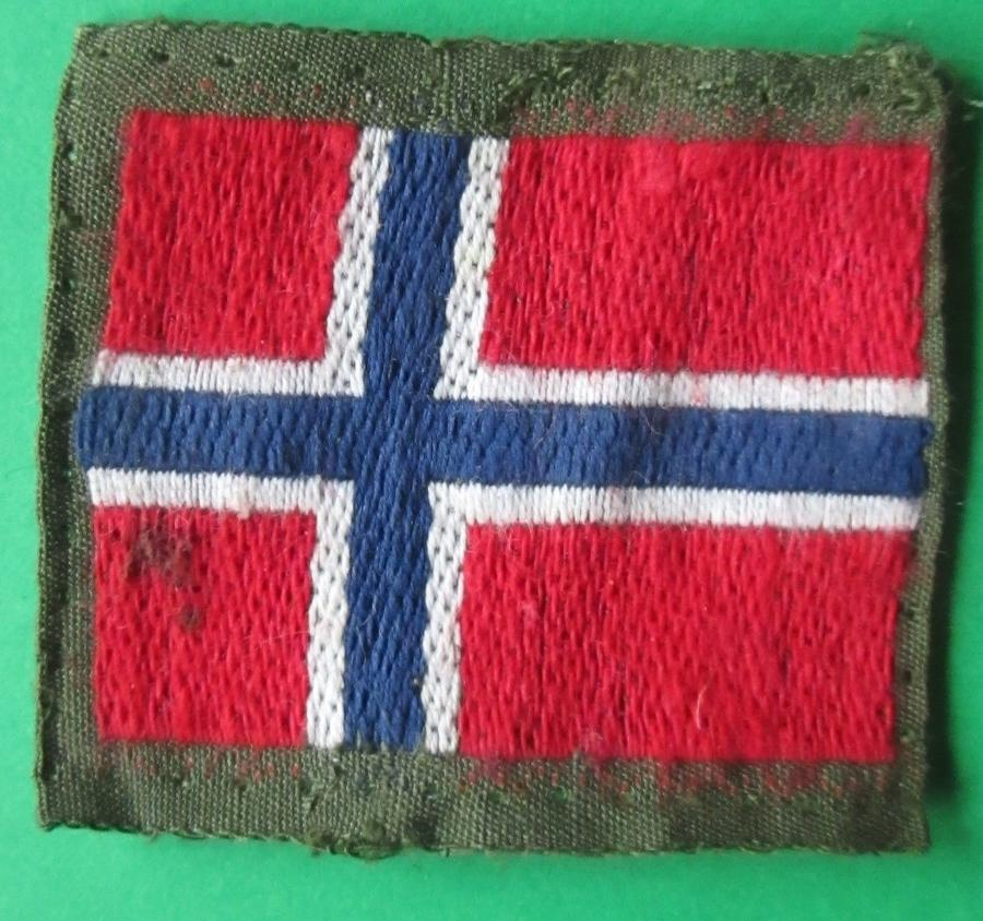 A WWII NORWEGIAN FREE FORCES ARM BADGE