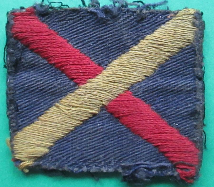 A WWII FIFE AND FORFAR YEOMANRY UNIT FLASH