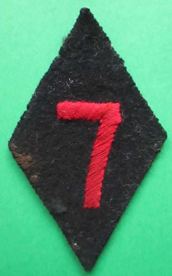 A RARE WWII RA 7TH ( 66th MEDIUM REGIMENT ) FLASH