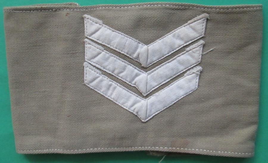 A WWII PERIOD TROPICAL SGTS ARM BAND