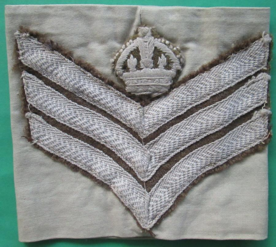 A WWII TROPICAL STAFF SGTS ARM BAND