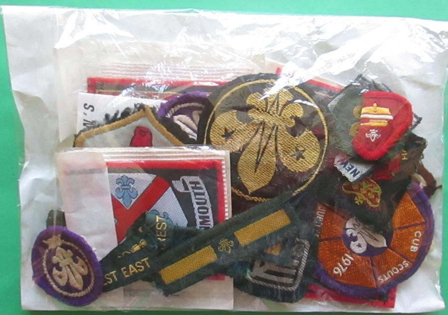 A PARCEL OF MID 1970'S HAMPSHIRE / NEW FOREST EAST SCOUT BADGES