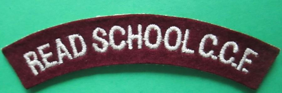 SHOULDER TITLE FOR THE READ SCHOOL C.C.F