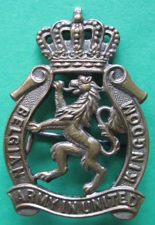 A SCARCE EXAMPLE OF THE FREE BELGIAN ARMY IN THE UK BADGE