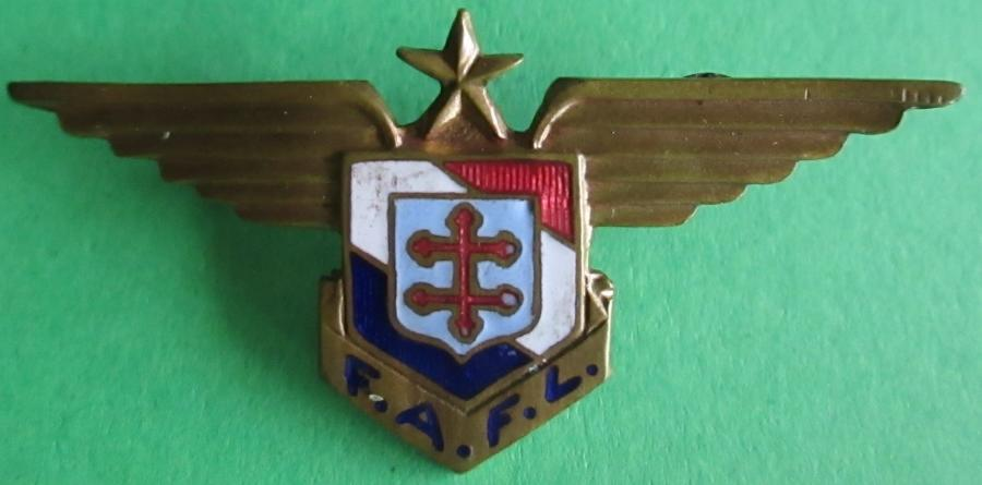 A WWII FREE FRENCH FORCES AVIATION PIN BADGE