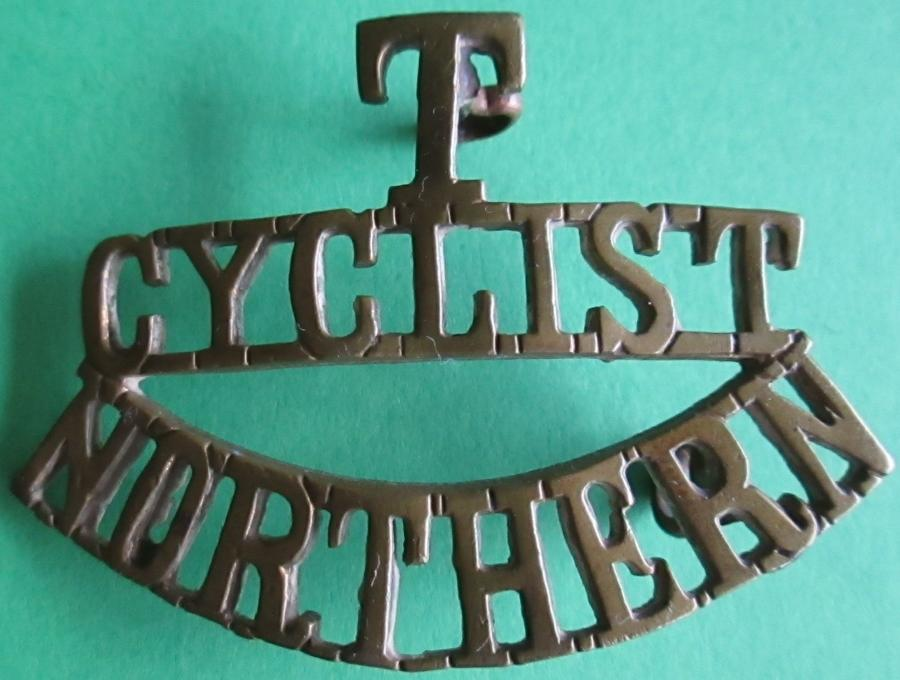 A WWI TERRITORIAL NORTHERN CYCLIST SHOULDER TITLE