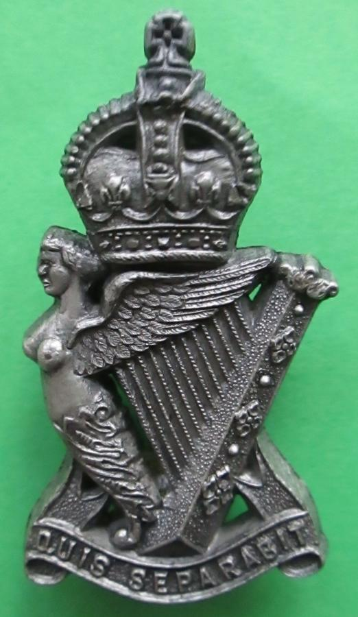THE ROYAL ULSTER RIFLES PLASTIC BADGE