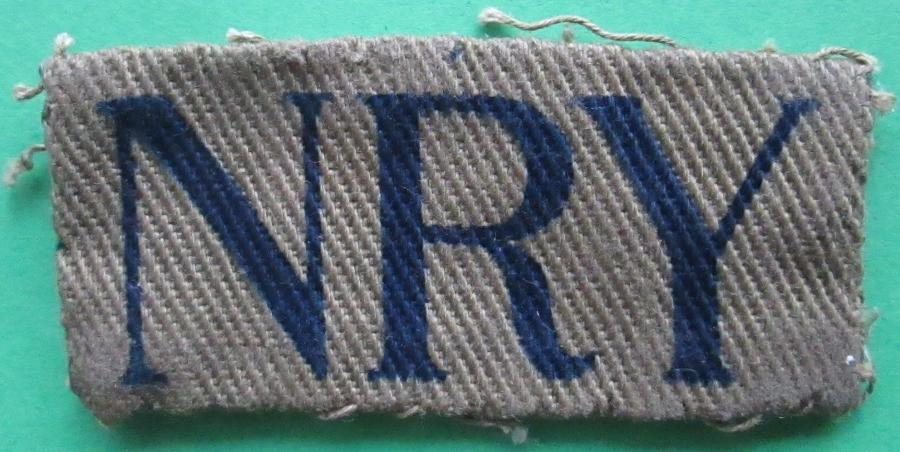 A HOME GUARD NORTH RIDING OF YORKSHIRE INSIGNIA