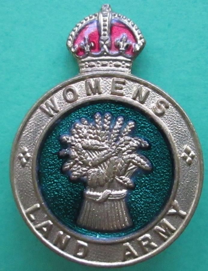 A WOMEN'S LAND ARMY BADGE