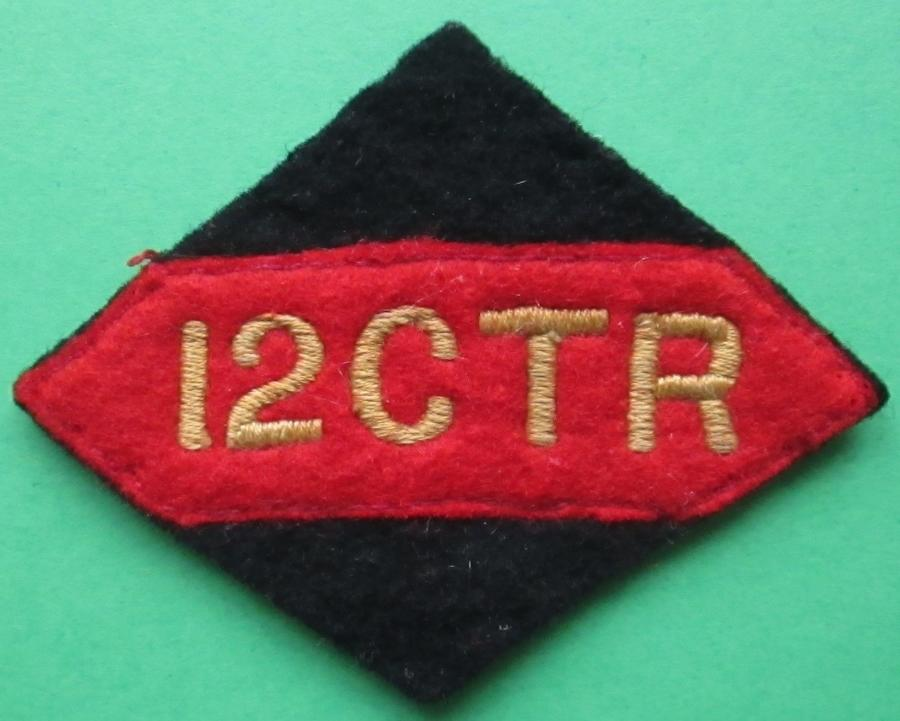 A 12TH CANADIAN TANK REGIMENT FORMATION SIGN