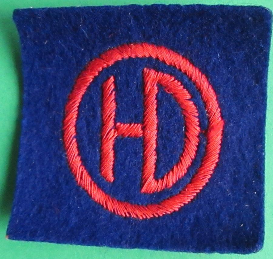 A PASTE BACK HIGHLAND DIVISION FORMATION PATCH