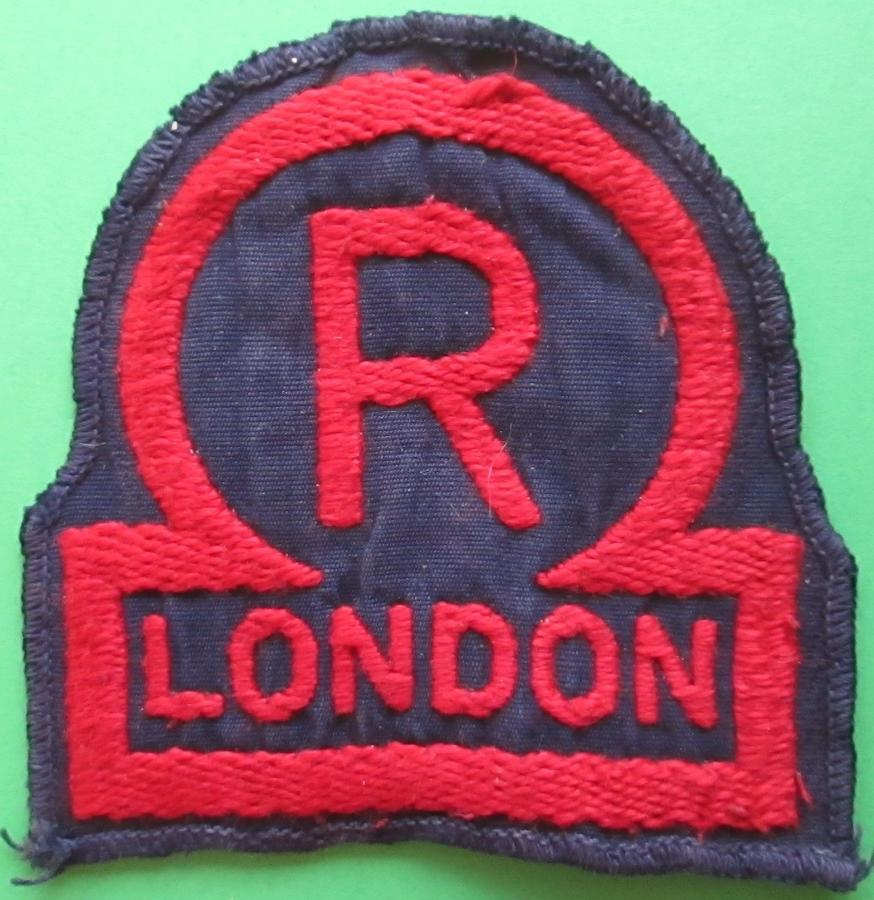 A WWII LONDON NATIONAL FIRE SERVICE RESERVE BREAST BADGE
