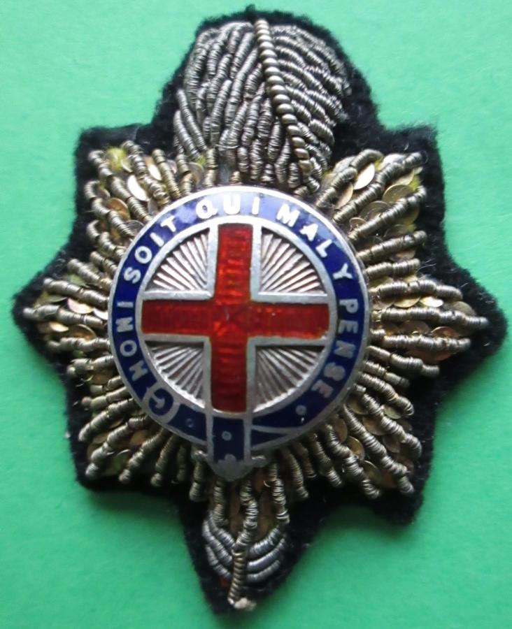 AN OFFICERS SILVER BULLION WIRE ROYAL SUSSEX REGT COLLAR DOG