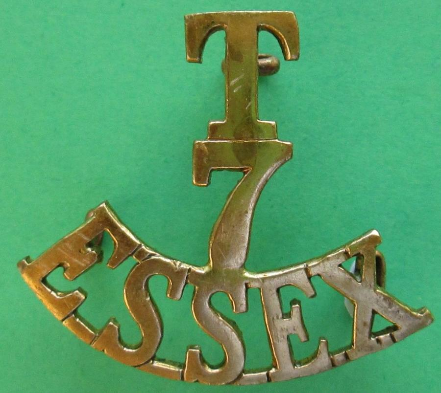 A TERRITORIAL ARMY 7TH ESSEX GROUP BADGE