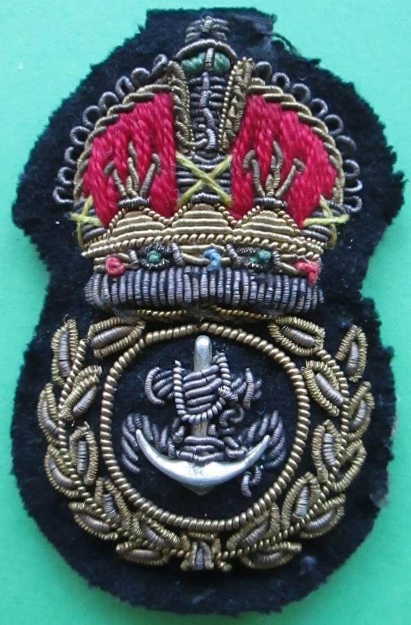 ROYAL NAVY CHIEF PETTY OFFICERS BULLION CAP BADGE BADGE