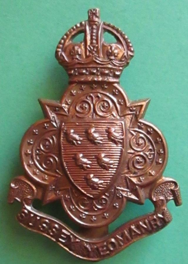 AN OTHER RANKS SURREY YEOMANRY CAP BADGE