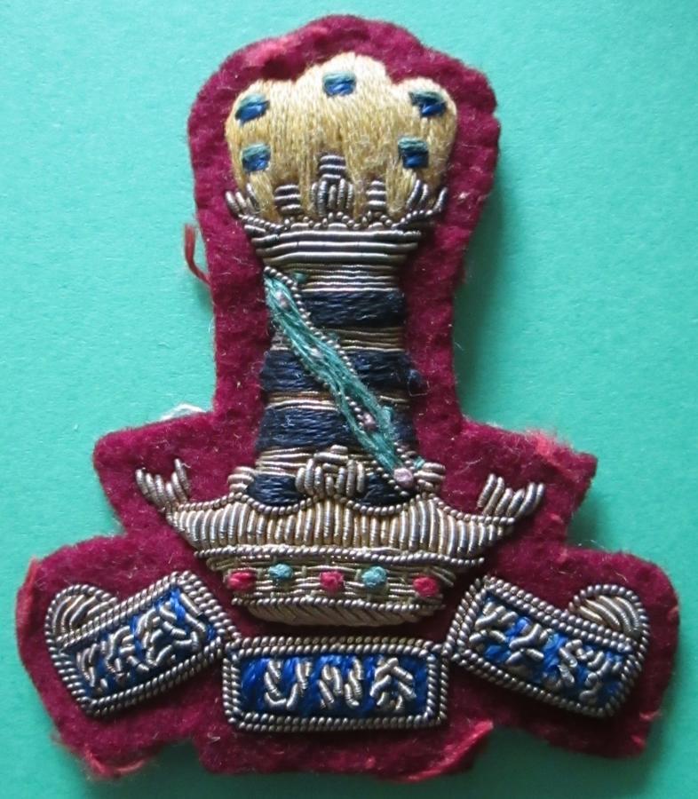 A 11th HUSSARS BULLION WIRE ARM BADGE