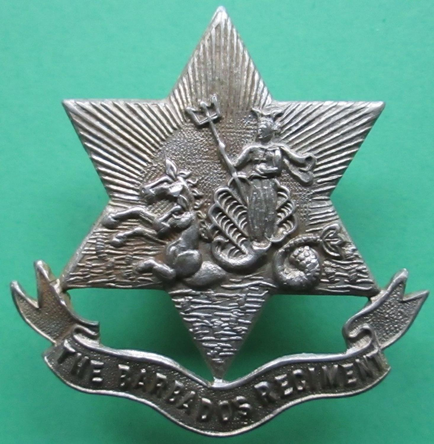 A BARBADOS REGIMENT CAP BADGE