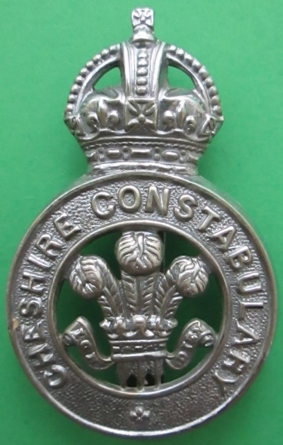A POLICE BADGE FOR THE CHESHIRE CONSTABULARY
