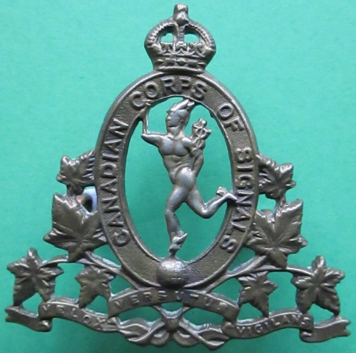 A CANADIAN CORPS OF SIGNALS BADGE