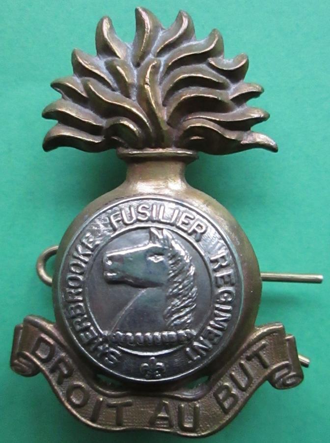 THE SHERBROOKE FUSILIER REGIMENT CAP BADGE