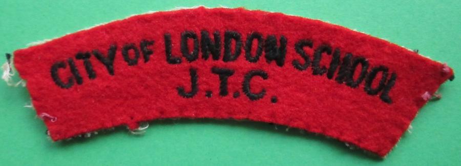 A CITY OF LONDON SCHOOL JTC SHOULDER TITLE