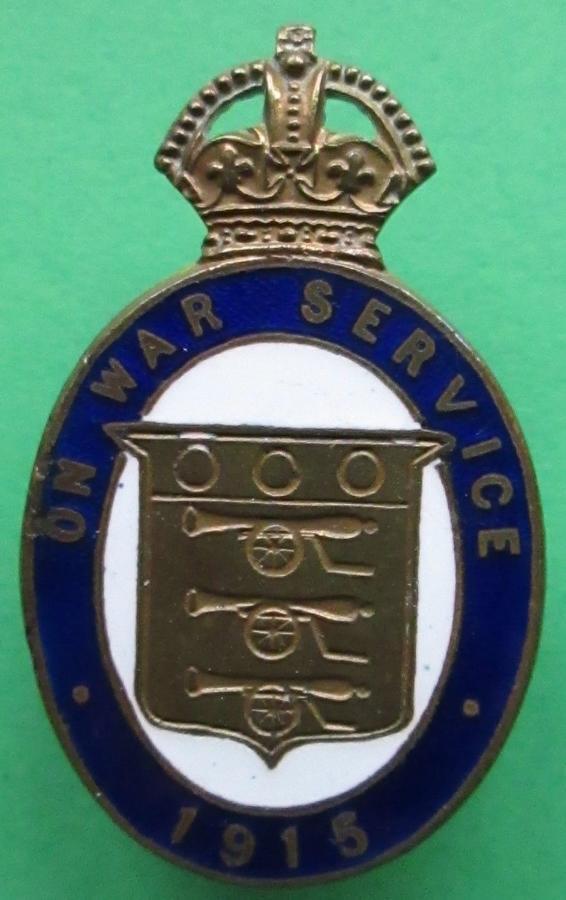 AN ON WAR SERVICE BADGE