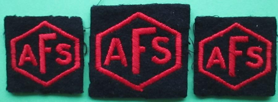 A SET OF PATCHES FOR THE AUXILLARY FIRE SERVICE