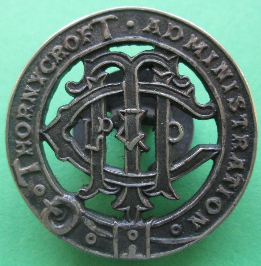 A THORNYCROFT ADMINISTRATION BADGE