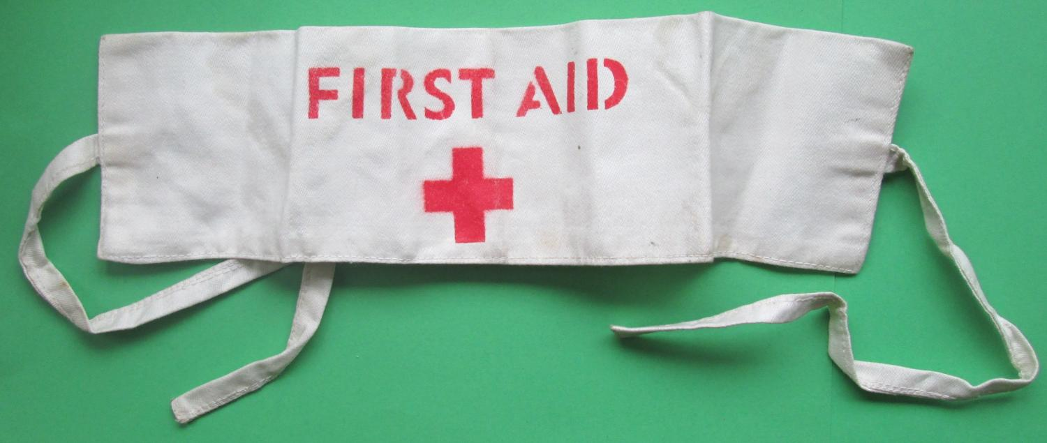 A TIE ON ARM BAND FOR THE RED CROSS