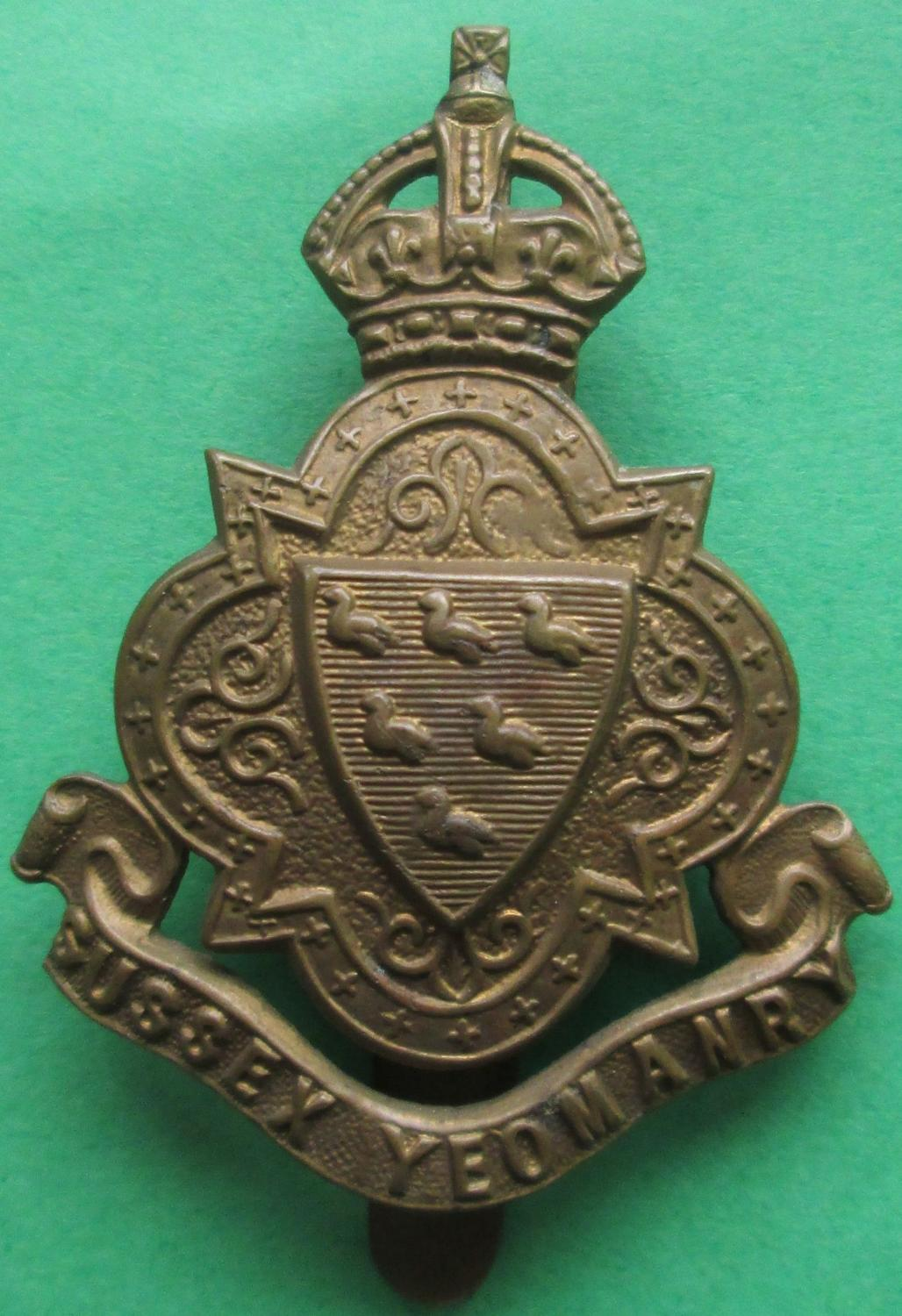 A CAP BADGE FOR THE SUSSEX YEOMANRY
