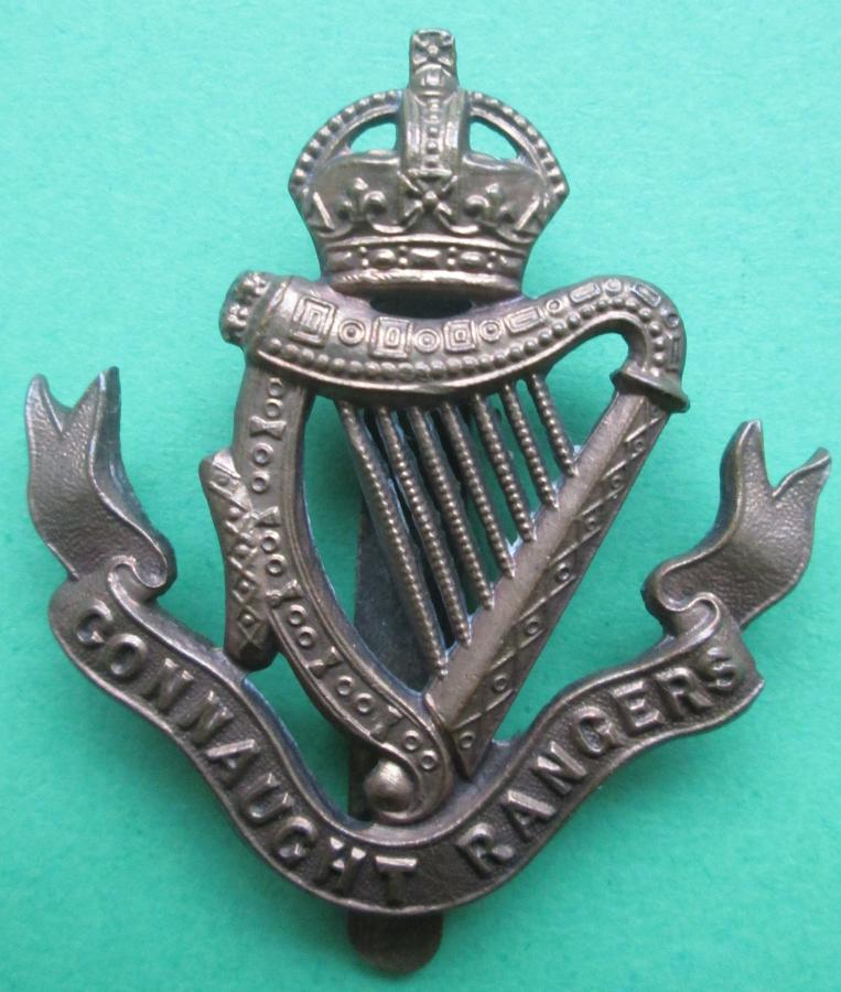 A CONNAUGHT RANGERS OTHER RANKS CAP BADGE