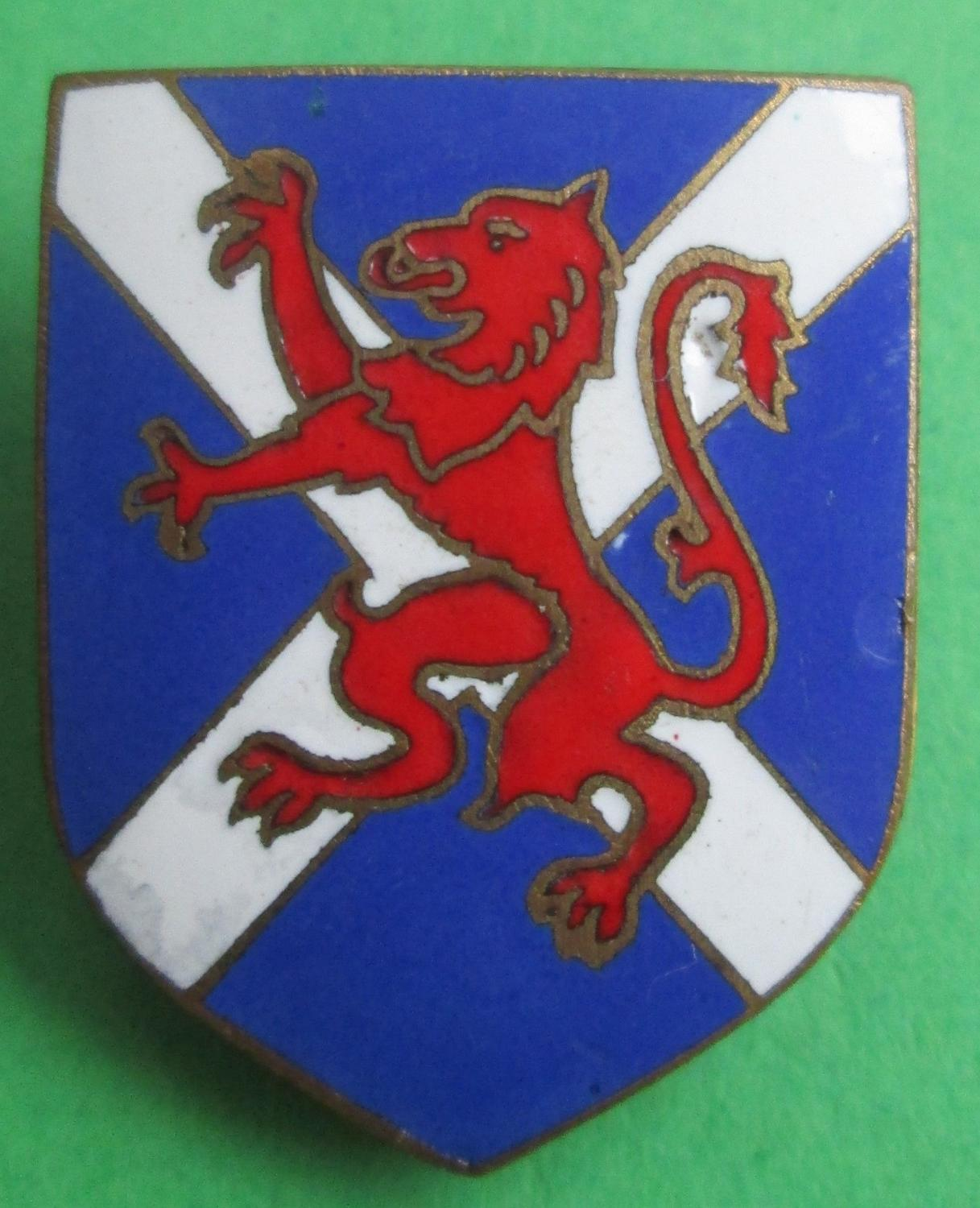 A SCOTTISH EXHIBITION BADGE