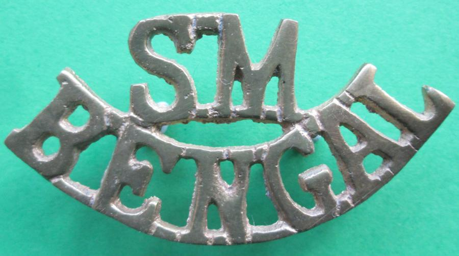 A BENGAL SAPPERS AND MINERS SHOULDER TITLE
