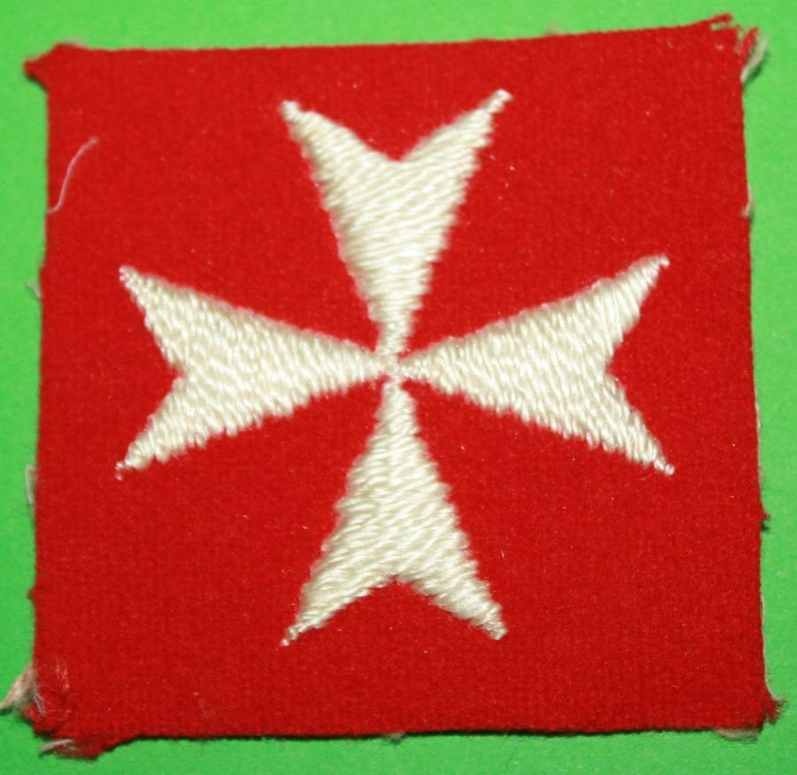 A BRITISH TROOPS MALTA FORMATION PATCH