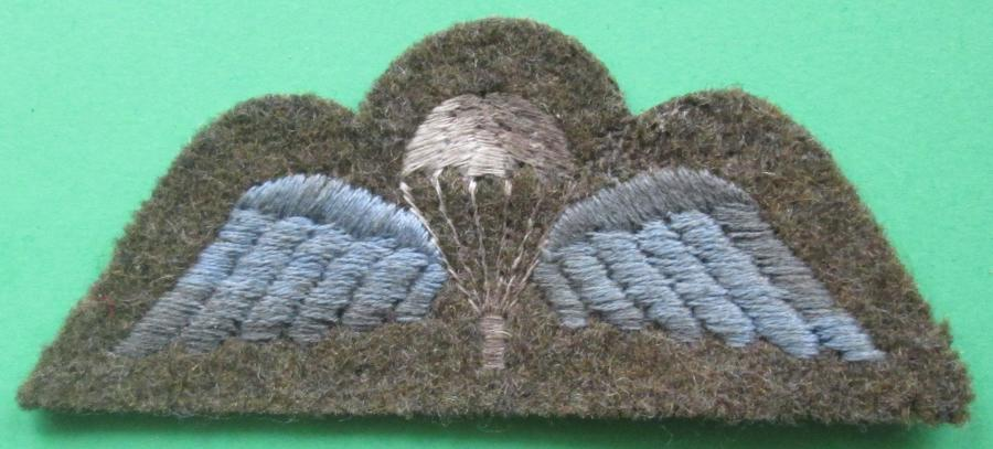 A GRUBBY WWII JUMP WING