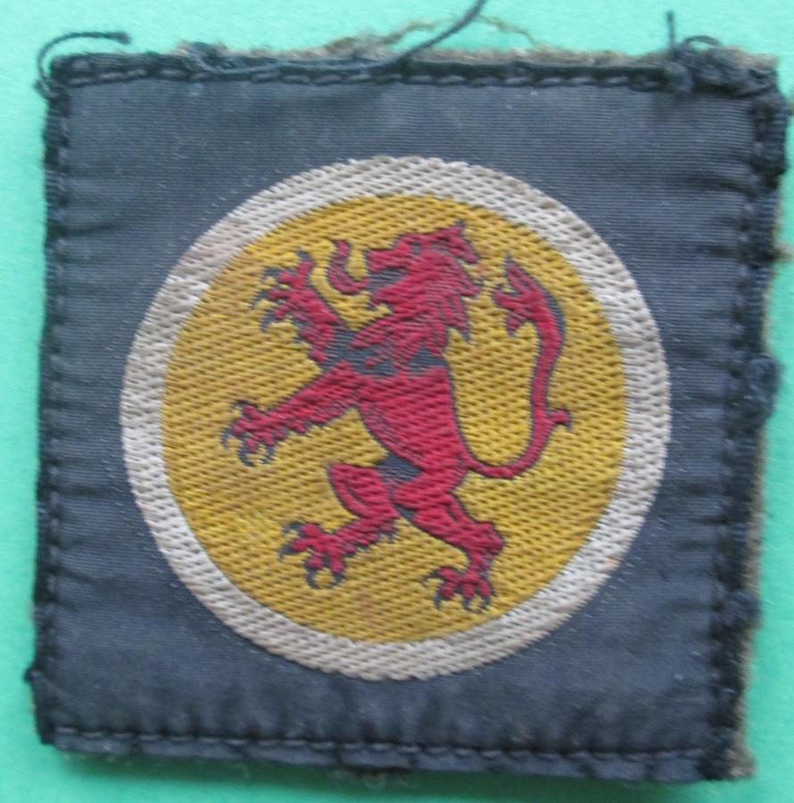 A GOOD USED 15TH SCOTTISH DIVISION FORMATION PATCH