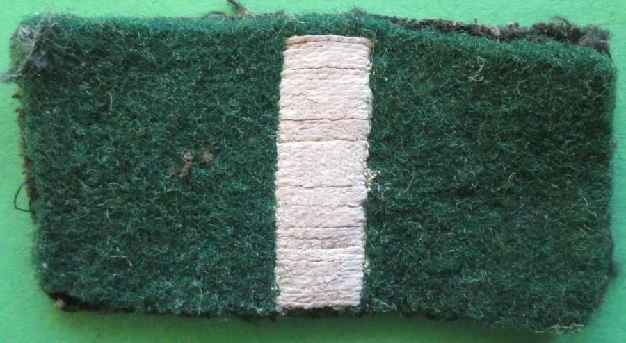 A GREEN HOWARDS REGIMENTAL FLASH