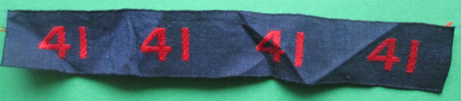 A WWII ROYAL MARINES COMMANDO NUMBER 41 PRICE IS EACH