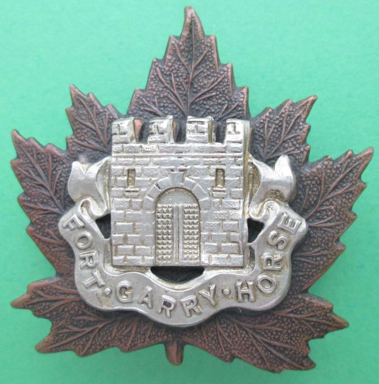 A CANADIAN FORT GARRY HORSE CAP BADGE